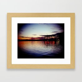 Moving up River Framed Art Print