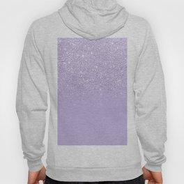 Stylish purple lavender glitter ombre color block Hoody