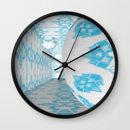3D Blue 1 Wall Clock