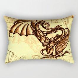 Battling Dragons - Mythical Creatures Rectangular Pillow