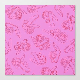 Peonies and Switchblades Canvas Print