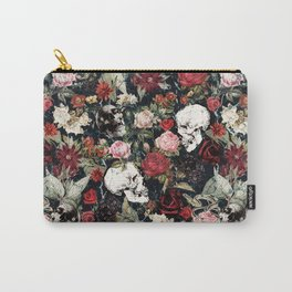Vintage Floral With Skulls Carry-All Pouch