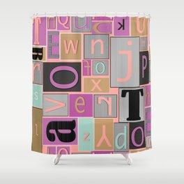 fun bright alphabet jumble Shower Curtain