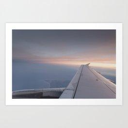 The Setting Sun Flight Art Print