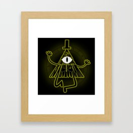 Bill Cipher, Reality is an illusion Framed Art Print