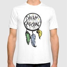 DREAMCATCHING  SMALL White Mens Fitted Tee