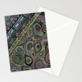 An abstract textured pattern in Oriental style . Stationery Cards