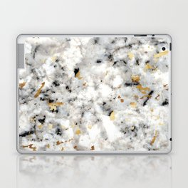 Classic Marble with Gold Specks Laptop & iPad Skin