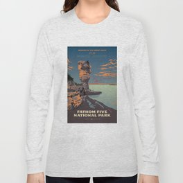 Fathom Five National Park Poster (Flowerpot Island) Long Sleeve T-shirt