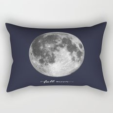 Full Moon on Navy English Rectangular Pillow