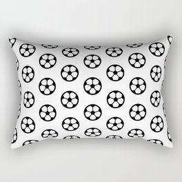 Simple Soccer Ball Motif Pattern Rectangular Pillow