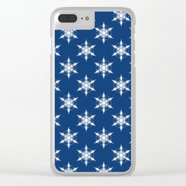 Snowflakes II Clear iPhone Case
