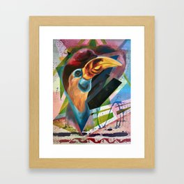 Moving Into Flight Framed Art Print