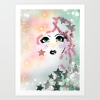 jem Art Prints featuring Jem by Care Thomas