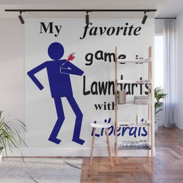 Lawndarts with Liberals Wall Mural