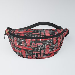Gamer Lingo-Black and Red Fanny Pack