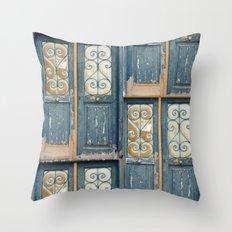 Door, Athens Throw Pillow