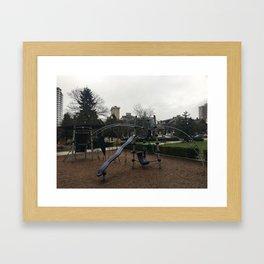 Rainy Day Jungle Gym Framed Art Print