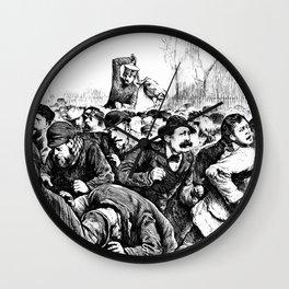 Tompkins Square Riot of 1874 Wall Clock