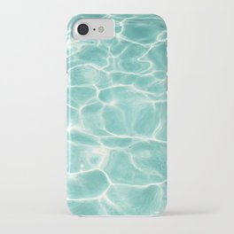 Water Abstract Photography, Teal Ocean, Turquoise Sea, Water Ripple Seascape iPhone Case