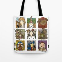 labyrinth Tote Bags featuring Labyrinth by Steven Learmonth