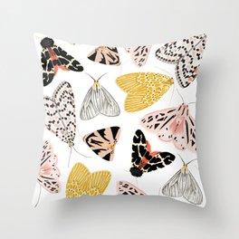 Moth's Diverse Beauty Pattern Throw Pillow