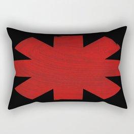 Chili Pepper Asterisk Rectangular Pillow