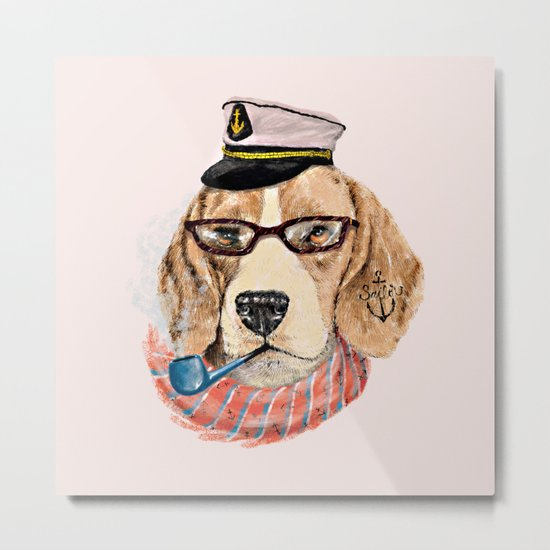 Mr.Beagle Metal Print