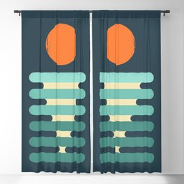 Minimalist ocean Blackout Curtain