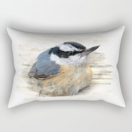 Red-breasted Nuthatch Rectangular Pillow