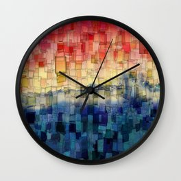Blue Tide Mosaic Wall Clock