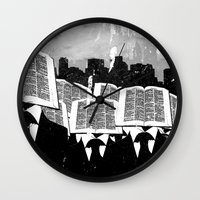 facebook Wall Clocks featuring Facebook by craig zdanowicz