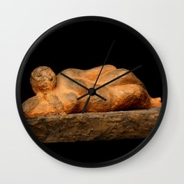 Earth Woman (Sculpture by Eva Hoedeman) Wall Clock