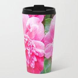 Pink Camelia  Travel Mug