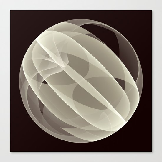 Modern Magic 3D Sphere Canvas Print