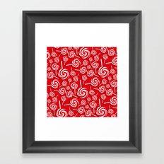 Candy Swirls-Large Framed Art Print