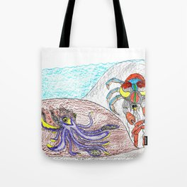 Cuttlefish & Coconut Crabs Tote Bag