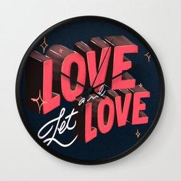 Love & Let Love Wall Clock