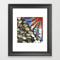 Contrast jelly fish Framed Art Print
