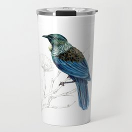 Tui, New Zealand native bird Travel Mug
