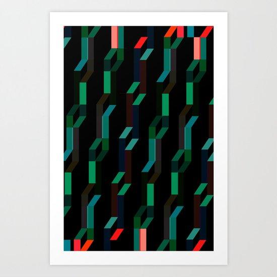 Serpentinas Art Print