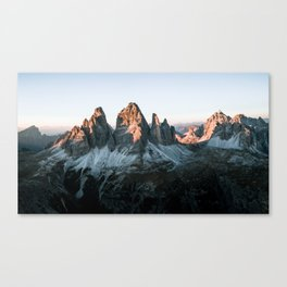 Dolomites sunset panorama - Landscape Photography Canvas Print