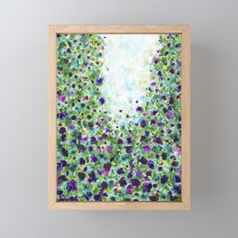 A walk in the park - Abstract Painting Framed Mini Art Print