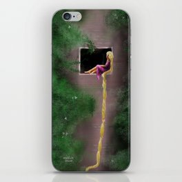 Let Down Your Hair iPhone Skin