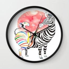 Dance of Zebra Wall Clock