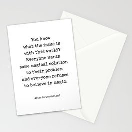 Alice in Wonderland quote Stationery Cards
