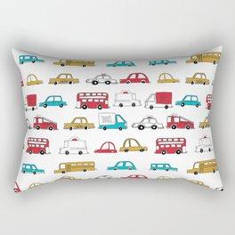 Cars trucks buses city highway transportation illustration cute kids room gifts Rectangular Pillow