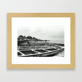 Boats Framed Art Print