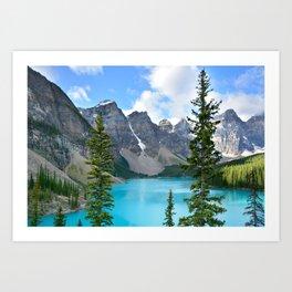 Beautiful Lake Moraine in Banff Art Print