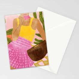 Flower Talk #illustration #painting Stationery Cards